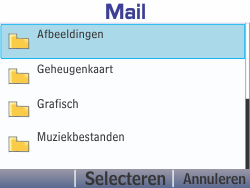 Nokia Asha 210 - E-mail - Hoe te versturen - Stap 15