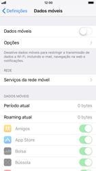 Apple iPhone 6s - iOS 11 - Internet no telemóvel - Como ativar os dados móveis -  4
