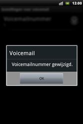 Sony Ericsson Xperia Mini Pro - Voicemail - handmatig instellen - Stap 8