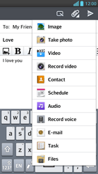 LG P875 Optimus F5 - E-mail - Sending emails - Step 11