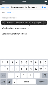 Apple iPhone 6S Plus iOS 9 - E-mail - E-mail versturen - Stap 10