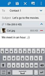 Samsung G388F Galaxy Xcover 3 - E-mail - Sending emails - Step 18