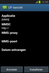 Samsung S6810P Galaxy Fame - MMS - Automatisch instellen - Stap 6