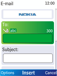 Nokia X2-00 - E-mail - Sending emails - Step 7