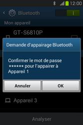 Samsung S6810P Galaxy Fame - Bluetooth - connexion Bluetooth - Étape 9