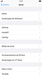 Apple iPhone 7 - iOS 13 - Primeiros passos - Como encontrar o número de IMEI do seu aparelho - Etapa 4