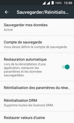 Alcatel Pixi 4 (4) - Device maintenance - Retour aux réglages usine - Étape 6