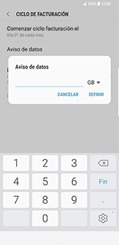Samsung Galaxy S8 Plus - Internet - Ver uso de datos - Paso 10