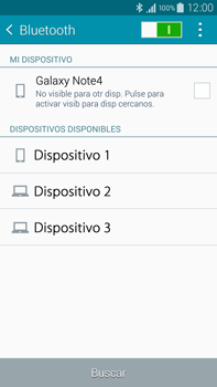 Samsung N910F Galaxy Note 4 - Bluetooth - Conectar dispositivos a través de Bluetooth - Paso 6