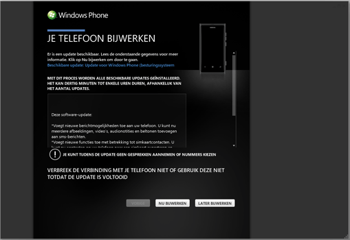 Nokia Lumia 710 - Software - Installeer firmware update - Stap 4