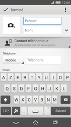 Sony Xperia Z2 - Contact, Appels, SMS/MMS - Ajouter un contact - Étape 8