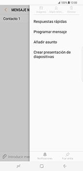 Samsung Galaxy S8 Plus - Mensajería - Escribir y enviar un mensaje multimedia - Paso 9