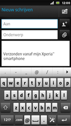 Sony ST25i Xperia U - E-mail - E-mails verzenden - Stap 5