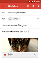 Nokia 3 - Android Oreo - E-mail - E-mails verzenden - Stap 15