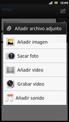 Sony Xperia U - E-mail - Escribir y enviar un correo electrónico - Paso 10