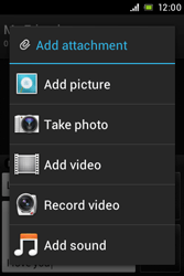 Sony ST23i Xperia Miro - Mms - Sending a picture message - Step 12