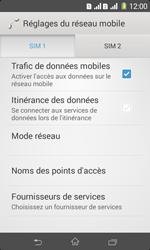 Sony Xpéria E1 Dual - Internet et connexion - Désactiver la connexion Internet - Étape 6