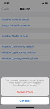 Apple iPhone X - iOS 13 - Funções básicas - Como restaurar as configurações originais do seu aparelho - Etapa 7