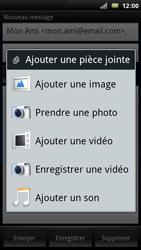 Sony Ericsson Xperia Play - E-mail - Envoi d