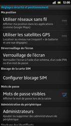 Sony Xpéria S - Sécuriser votre mobile - Activer le code de verrouillage - Étape 5