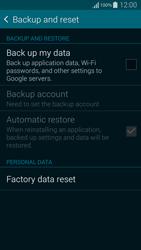Samsung G850F Galaxy Alpha - Device - Factory reset - Step 6