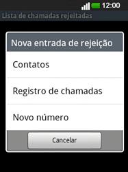 LG E400 - Chamadas - Como bloquear chamadas de um número -  9