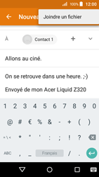 Acer Liquid Z320 - E-mail - envoyer un e-mail - Étape 10