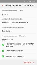 Samsung Galaxy S6 - Email - Como configurar seu celular para receber e enviar e-mails - Etapa 7