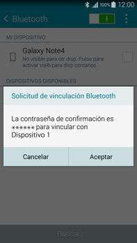 Samsung N910F Galaxy Note 4 - Bluetooth - Conectar dispositivos a través de Bluetooth - Paso 7