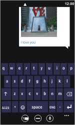 Nokia Lumia 800 - MMS - Sending pictures - Step 9