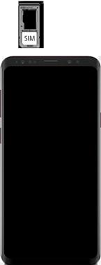 Samsung Galaxy S9 Plus - Premiers pas - Insérer la carte SIM - Étape 5