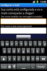 Huawei U8667 - Email - Como configurar seu celular para receber e enviar e-mails - Etapa 17