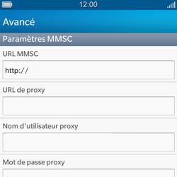 BlackBerry Q5 - MMS - configuration manuelle - Étape 11