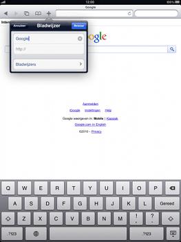 Apple iPad 2 - Internet - Hoe te internetten - Stap 5