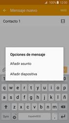 Samsung Galaxy S6 - Mensajería - Escribir y enviar un mensaje multimedia - Paso 13