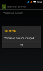 Alcatel OT-4033X Pop C3 - Voicemail - Manual configuration - Step 12