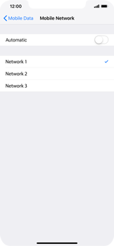 Apple iPhone XS Max - Network - Manually select a network - Step 8