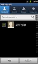 Samsung I9070 Galaxy S Advance - E-mail - Sending emails - Step 7