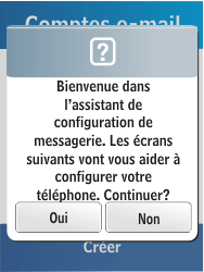 Samsung C3300K - E-mail - Configuration manuelle - Étape 10