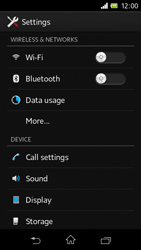 Sony C1905 Xperia M - Internet - Enable or disable - Step 4