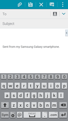 Samsung G901F Galaxy S5 4G+ - Email - Sending an email message - Step 5