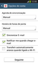 Samsung Galaxy Ace 3 LTE - Email - Adicionar conta de email -  7