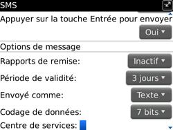 BlackBerry 9700 Bold - SMS - Configuration manuelle - Étape 5