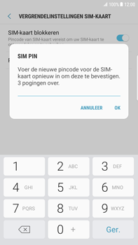 Samsung Galaxy S6 edge+ (SM-G928F) - Beveiliging en ouderlijk toezicht - Hoe wijzig ik mijn SIM PIN-code - Stap 10