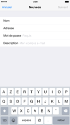 Apple iPhone 6 Plus iOS 8 - E-mail - Configuration manuelle - Étape 8
