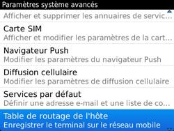 BlackBerry 9790 Bold - Paramètres - Message de configuration reçu - Étape 6