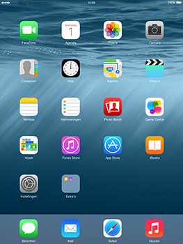Apple iPad 2 iOS 8 - Resetten - Fabrieksinstellingen terugzetten - Stap 1