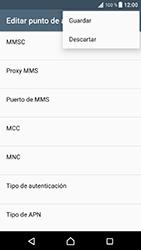 Sony Xperia XZ - Android Nougat - Mensajería - Configurar el equipo para mensajes multimedia - Paso 15