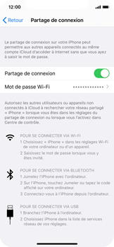 Apple iPhone X - iOS 13 - Internet - comment configurer un point d'accès mobile - Étape 8