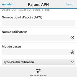 BlackBerry Classic - Internet - Configuration manuelle - Étape 9